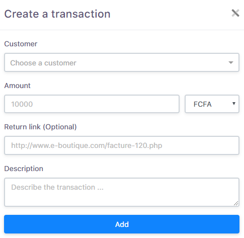 Creating transaction